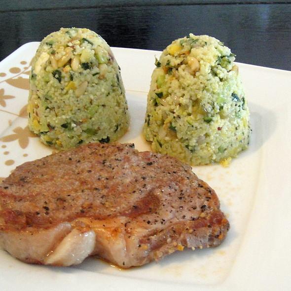 Yellow Couscous salad & Veal steak @ Kim & Ylona