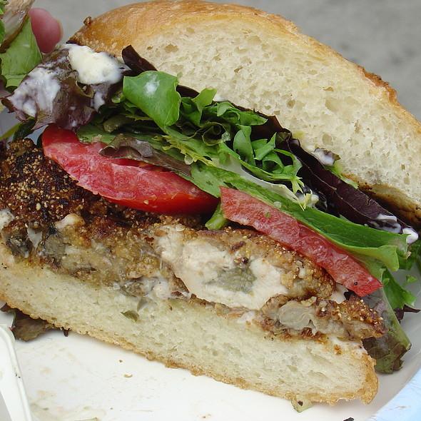 Fried Oyster Sandwich @ Ferry Plaza Farmer's Market