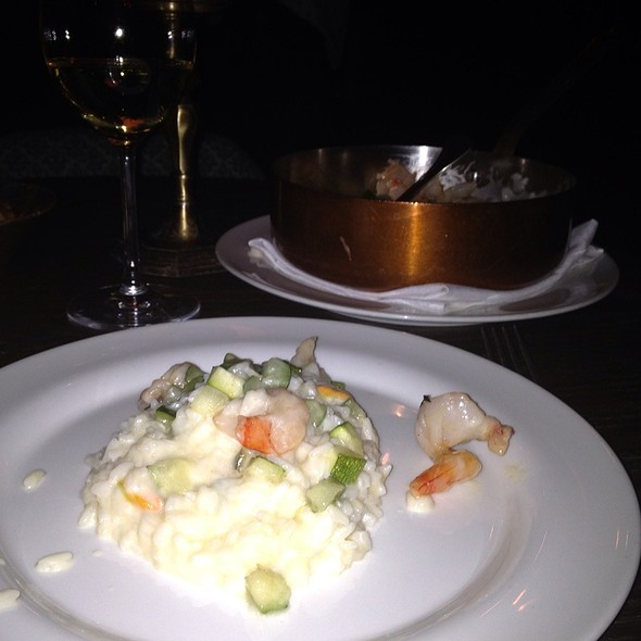 Shrimp Risotto with Champagne Sauce