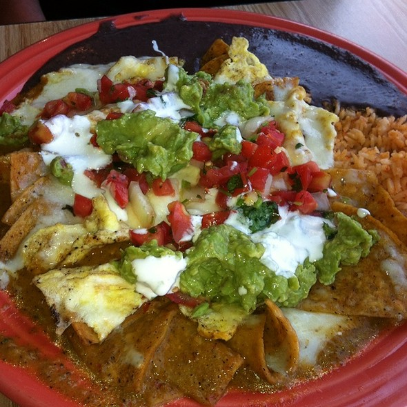 Nachos with Chicken @ Papalote Mexican Grill
