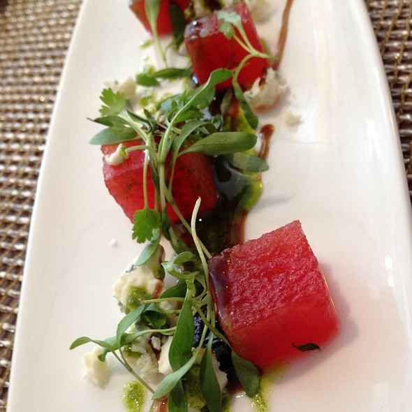 Compressed Watermelon And Feta Salad Wirh Basil Oil - Kelvin, San Diego, CA