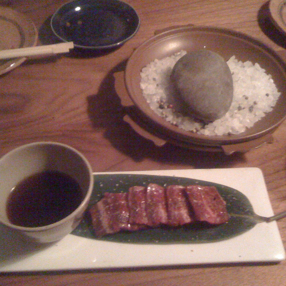 Hot Rock with Wagyu @ Uchi Restaurant