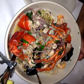 angel hair pasta with seafood - Carmine's - Atlantic City, Atlantic City, NJ
