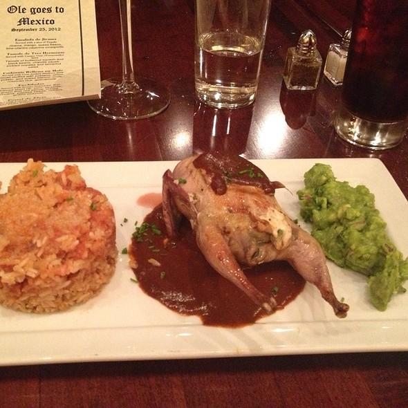 Codorniz (Quail) Relleno En Mole - Ole Tapas Lounge & Restaurant, Newark, DE