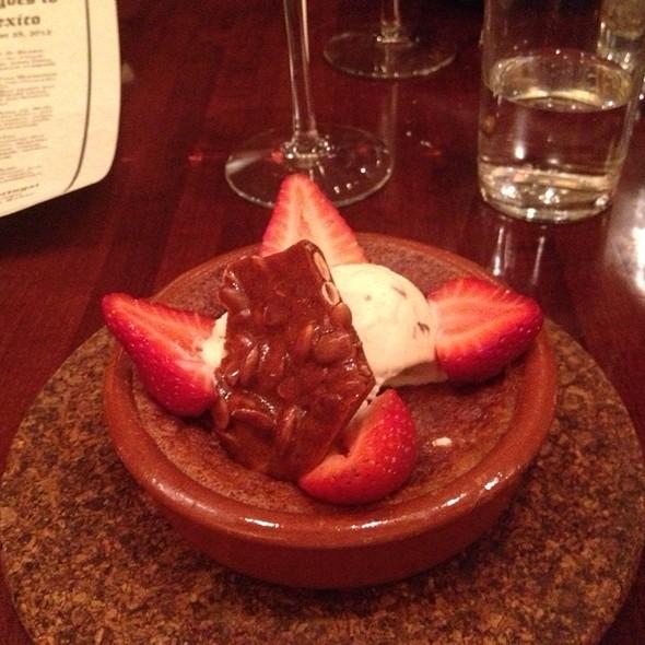Corn Cake, Walnut Ice Cream, Pumpkin Seed Brittle And Strawberries - Ole Tapas Lounge & Restaurant, Newark, DE
