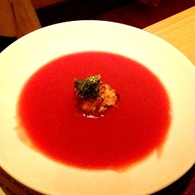 Chilled King's Garden Heirloom Tomato Soup