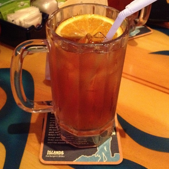 Passion Fruit Iced Tea  @ Islands Restaurant