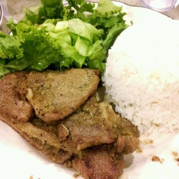 Lemongrass Pork Chops with Rice @ Kim Fung Restaurant
