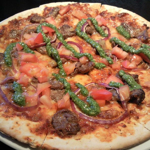Carne Asada Pizza @ Crush Restaurant & Lounge