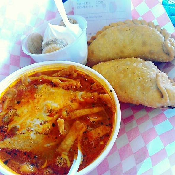 Combo #1: Tortilla soup, English And Eggplant Parmigiana Empanadas And Tiramisu @ The Original Marini's Empanada House