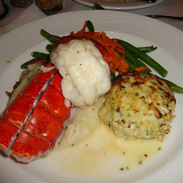 Surf & Surf - Lobster Tail & Crab Cake - Rusty Scupper - Baltimore, Baltimore, MD