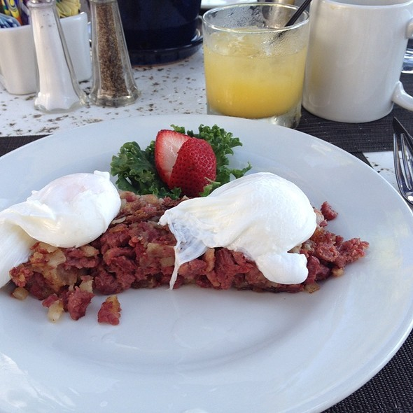 Corned Beef Hash And Poached Eggs - Blue Fire Grill at Omni La Costa Resort & Spa, Carlsbad, CA