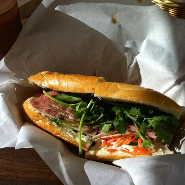 Three Ham Vietnamese Sandwich @ Tea Light Cafe