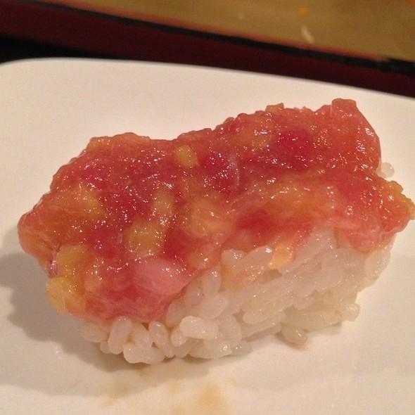 Salmon Topped With Balsamic Tomato - Sushi of Gari 46, New York, NY