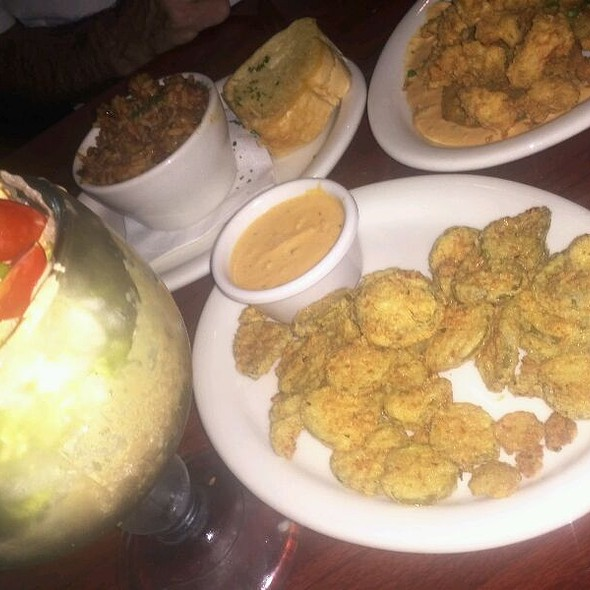Fried Green Tomatoes With Crawfish  @ Tibby's New Orleans Kitchen