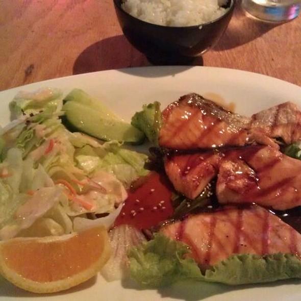 Salmon Teriyaki, Rice & Salad