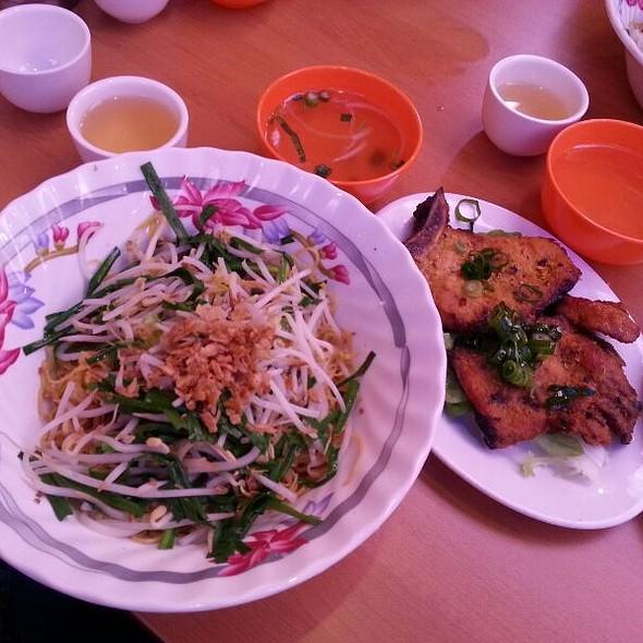 Egg Noodle With Grilled Pork Chop @ Pho Gia Hoi