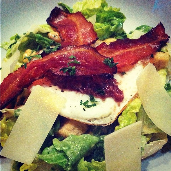 Green Salad with Grilled Bacon Strips @ Draft Gastropub