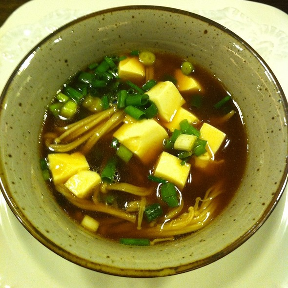 Miso Soup With Enoki Mushrooms at Private Residence