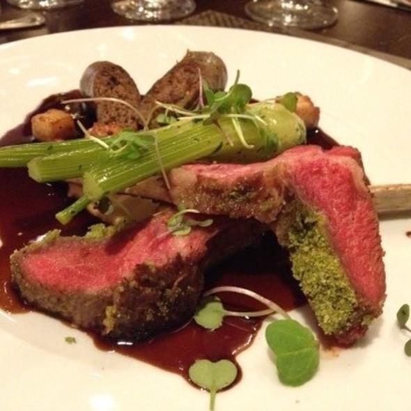 Roasted Lamb ~ Lamb Sausage • Pork Belly • Lamb Demi • Baby Fennel - Pyramid Restaurant and Bar, Dallas, TX