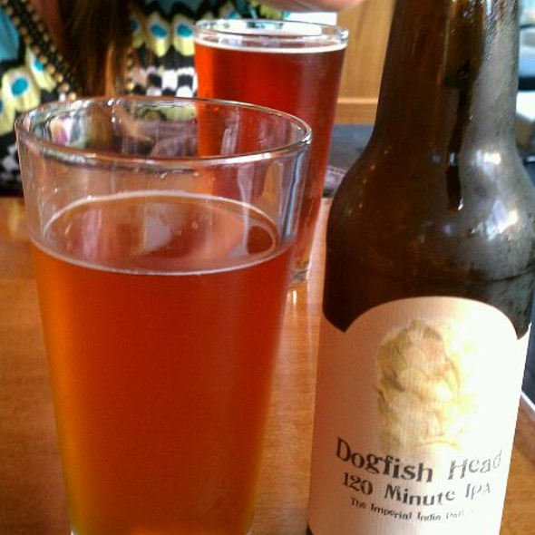 Dogfish Head 120 Minute IPA @ Taps Wine and  Beer Restaurant