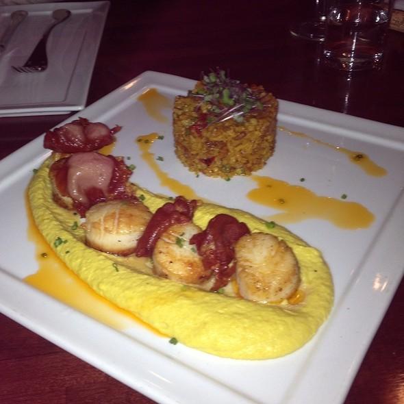 Pan Seared Diver Scallops, Crispy Serrano Ham - Ole Tapas Lounge & Restaurant, Newark, DE