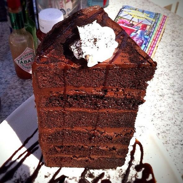 Mile High Chocolate Cake - Paradise Cove Beach Cafe, Malibu, CA
