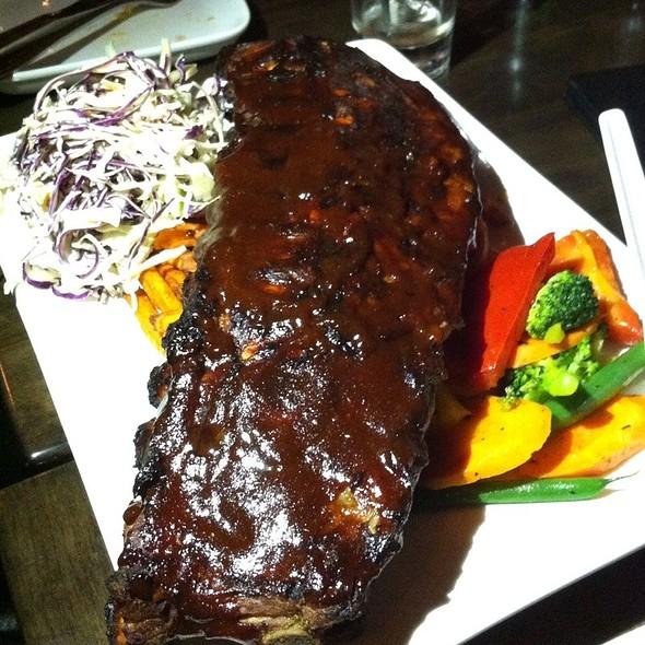 BBQ Pork Ribs At HUSH Restaurant, Bar U0026 Patio