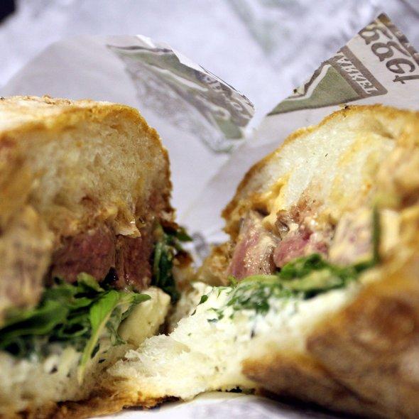 Flank Steak Sandwich @ Nugget Markets
