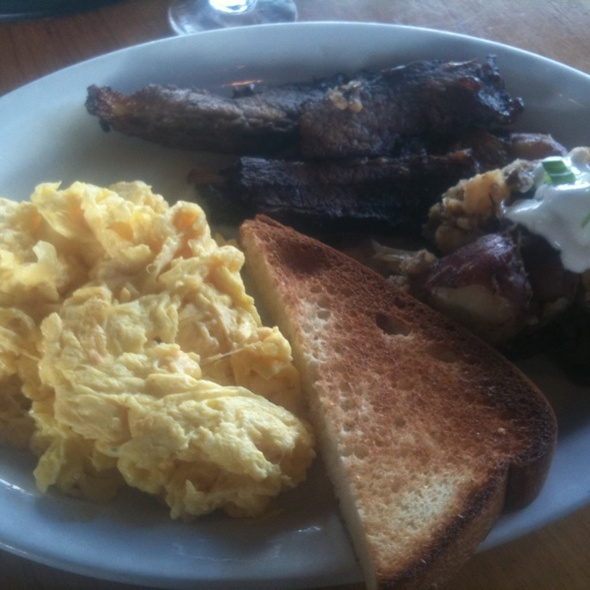 Two Eggs & Brisket @ T-Rex Barbeque