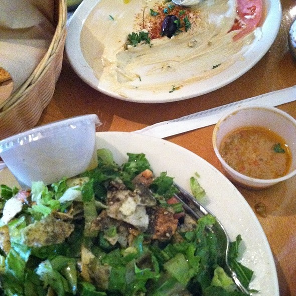Hummus And Fattoush Salad