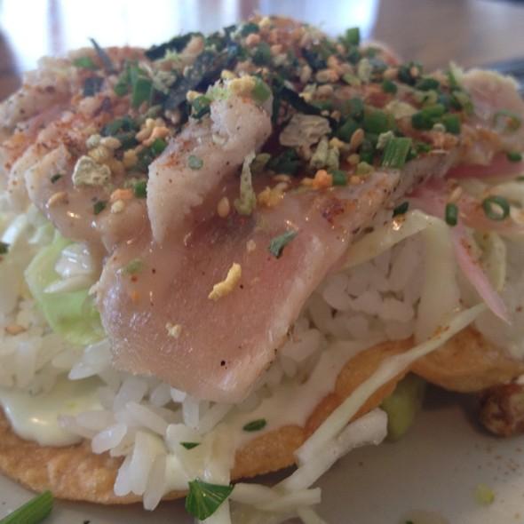 Rare Wasabi Tuna Tostada @ Slapfish Restaurant