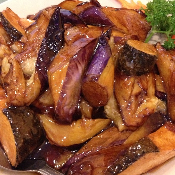 Eggplant With Sea Bass (Veggie)