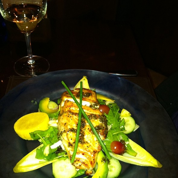 Blood Orange Glazed Crispy Skinned Chilean Sea Bass Served Over Fennel And Citrus Salad  - Osteria 177, Annapolis, MD