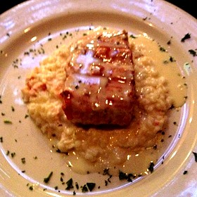 Sea Bass with Lobster Risotto - Mickey Mantle's Steakhouse