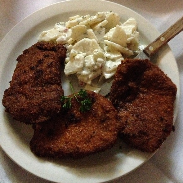 Breaded Pork Chops With German Potatoes - Old Germany Restaurant, Choctaw, OK