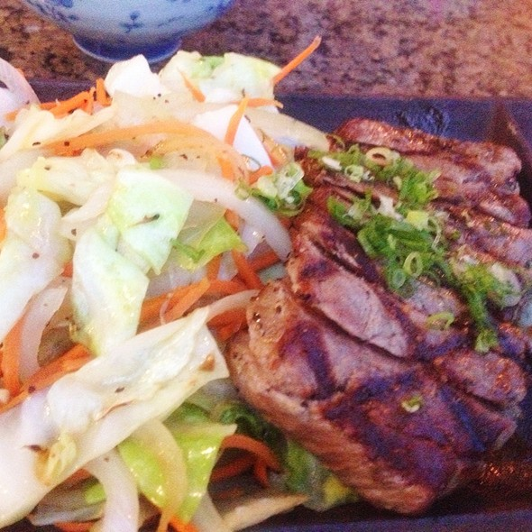New York Strip Steak Sizzle Plate - Monstera Noodles & Sushi, Kohala Coast, HI