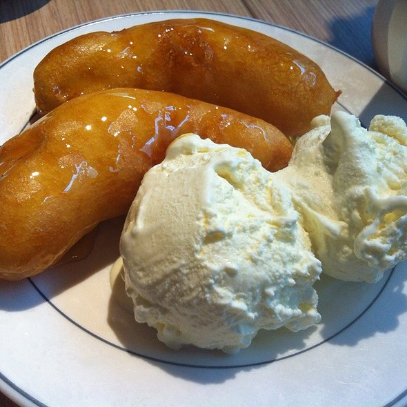 Banana Fritters With Ice Cream