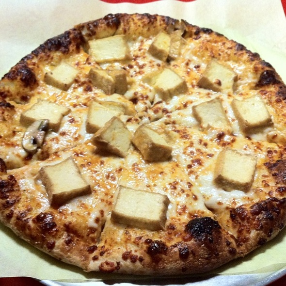 Thai Curry Pizza With Tofu @ Dean's Pizza