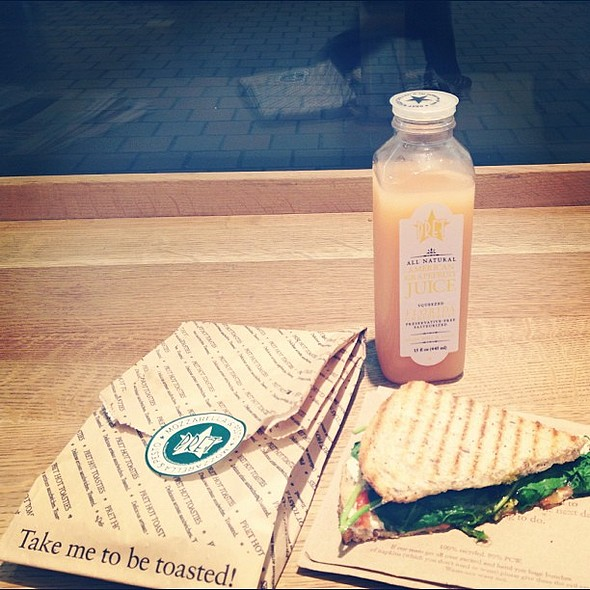 Mozzarella and Pesto Toastie from Pret A Manger