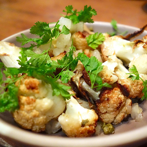 Roasted Cauliflower, Asian Pear, Capers @ Rich Table