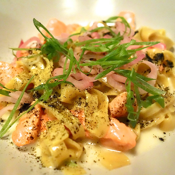 Tagliolini, Salmon, Toasted Seaweed, Scallions @ Rich Table