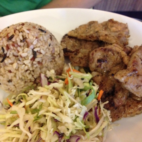 grilled pork chops rice plate