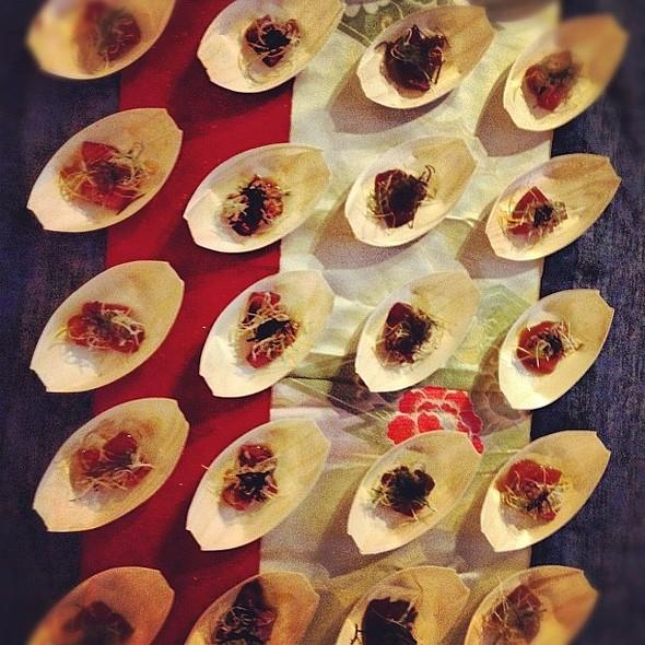 Tuna steeped in sweet soy w/ veggies & salted kombu @ Brooklyn Brewery