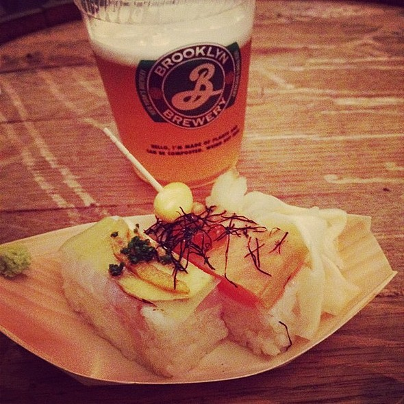 Box-pressed sushi @ Gohan Society's Japanese-cuisine showcase @ Brooklyn Brewery