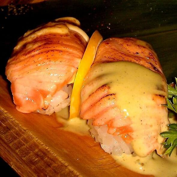 Salmon Aburi Nigiri Sushi