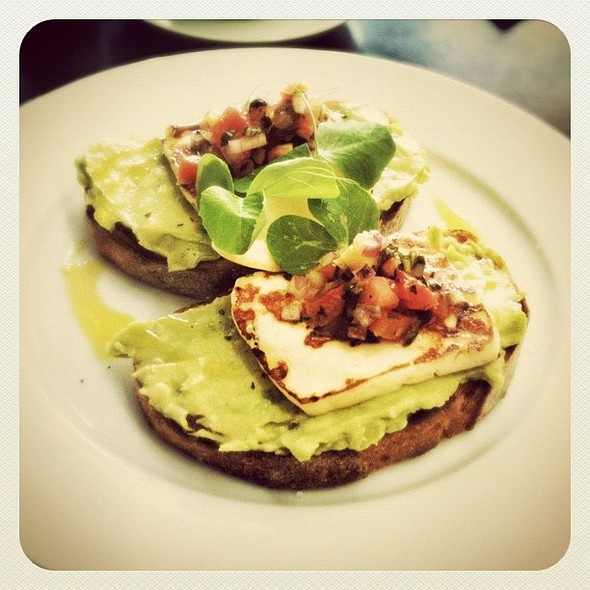 Avocado on Sourdough with Haloumi and other assorted goodness @ Pablo