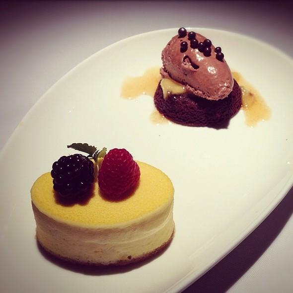 Passionfruit Semi Fredo With Caramelized Bananas @ Blue Water Cafe + Raw Bar