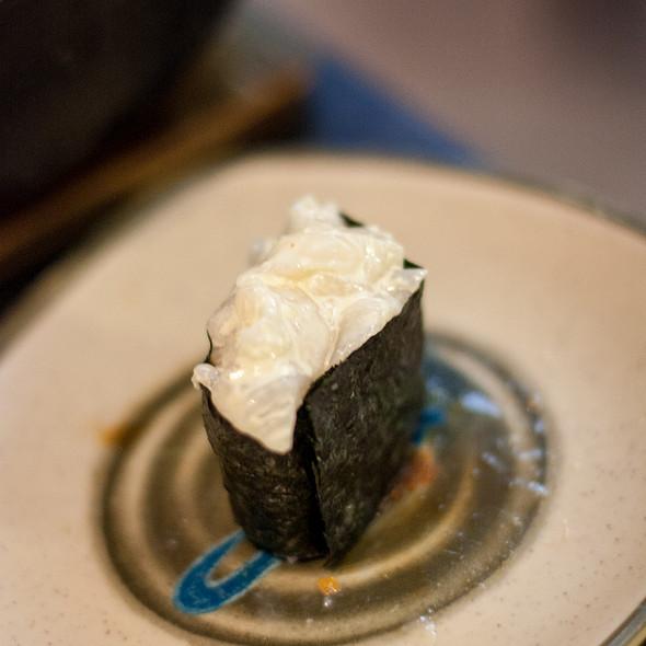 Spicy Scallop Nigiri @ Yuki Sushi Japanese Restaurant