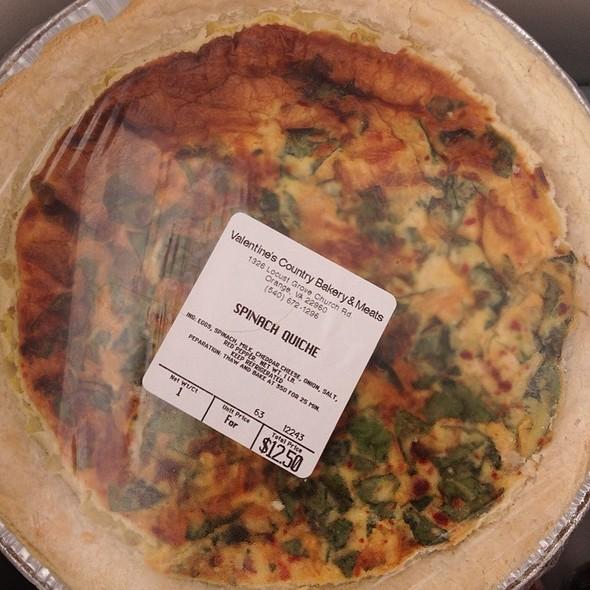Spinach Quiche @ Spotsylvania Farmers Market